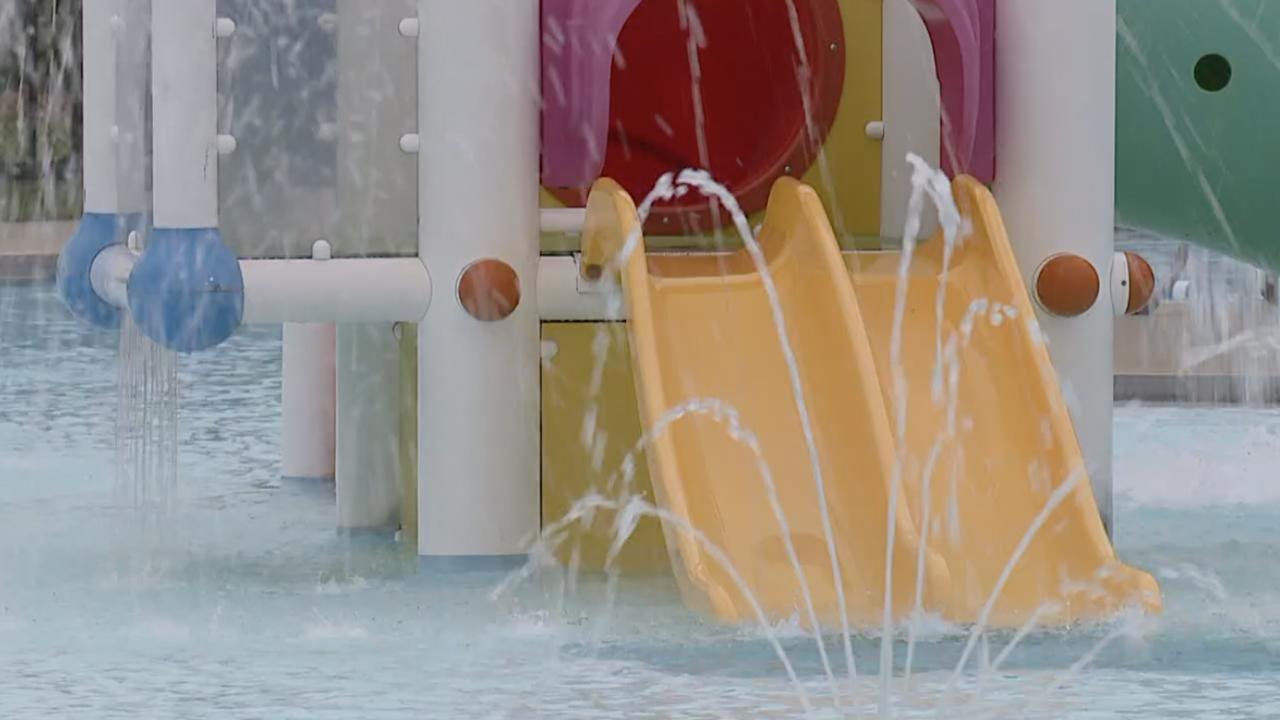 Cincinnati Recreation Commission pool with waterslide