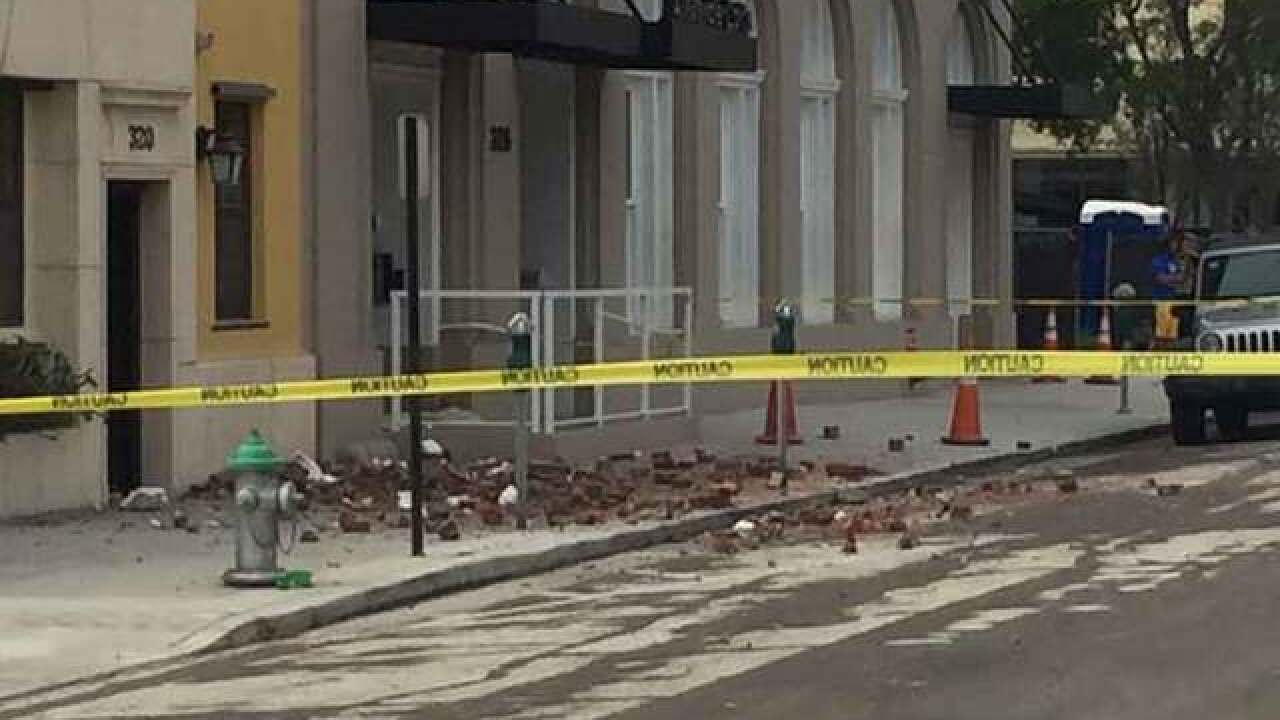 More than 70 residents put up in hotels after wall collapse at downtown apartment building