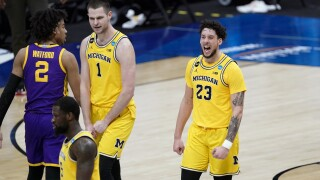 NCAA LSU Michigan Basketball