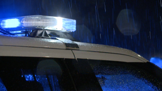 Generic Police lights at night