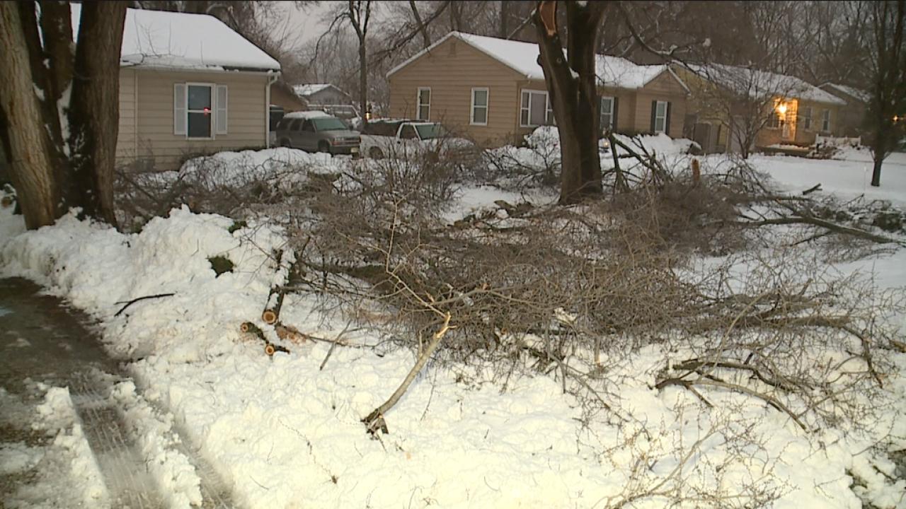 Damage at Barbara Knight's home