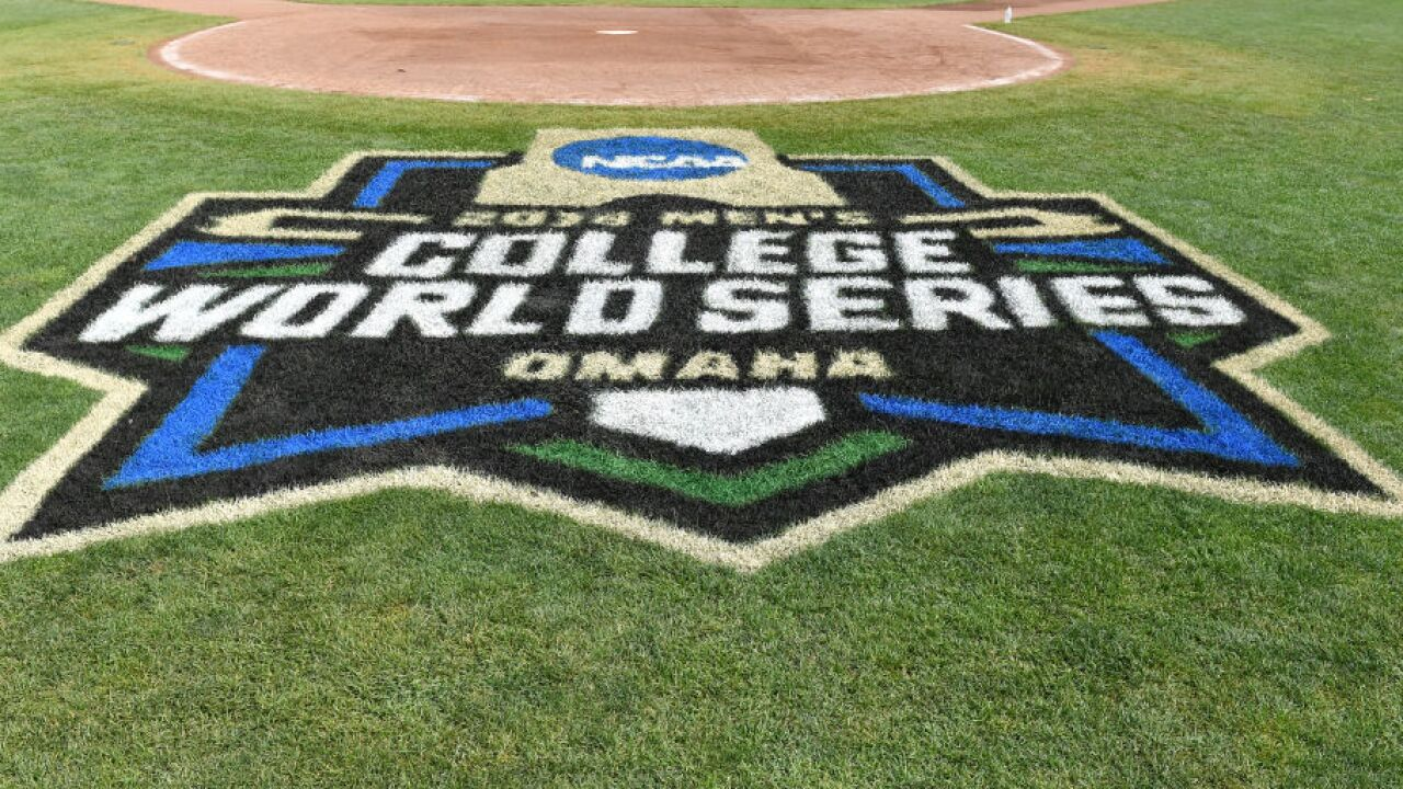 College World Series grass logo