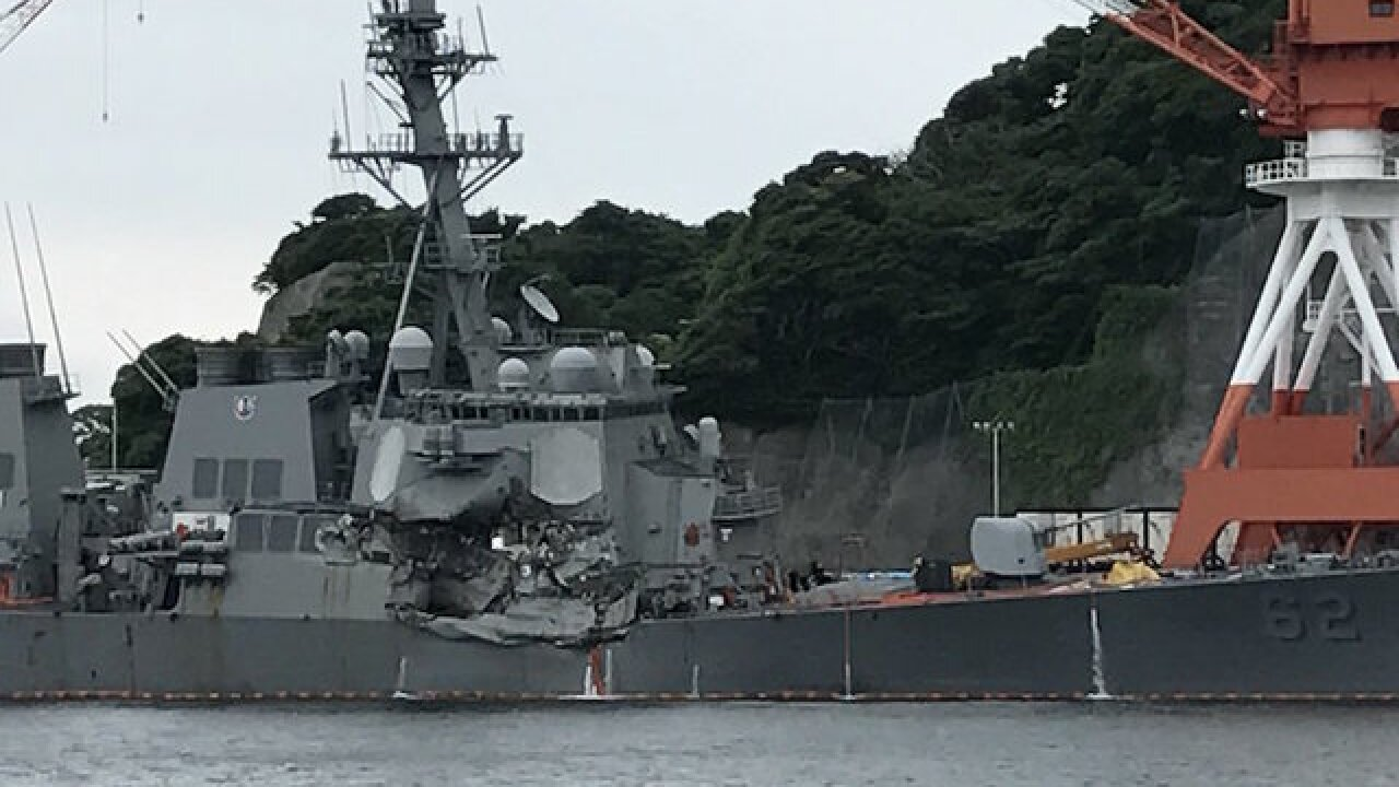 Missing sailors found dead in flooded ship areas