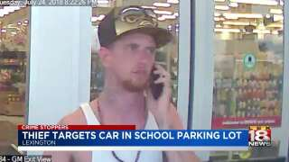 Crime Stoppers: Thief Targets Car In School Parking Lot