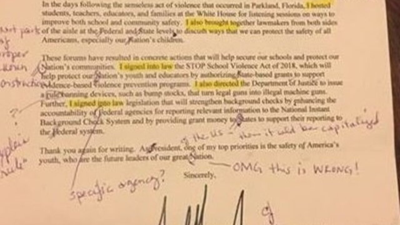 Georgia teacher gives Trump a grammar lesson