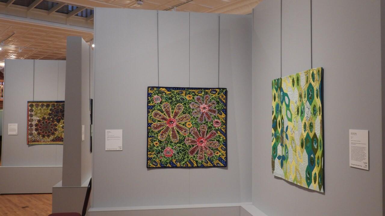 Main exhibit floor at the Iowa Quilt Museum