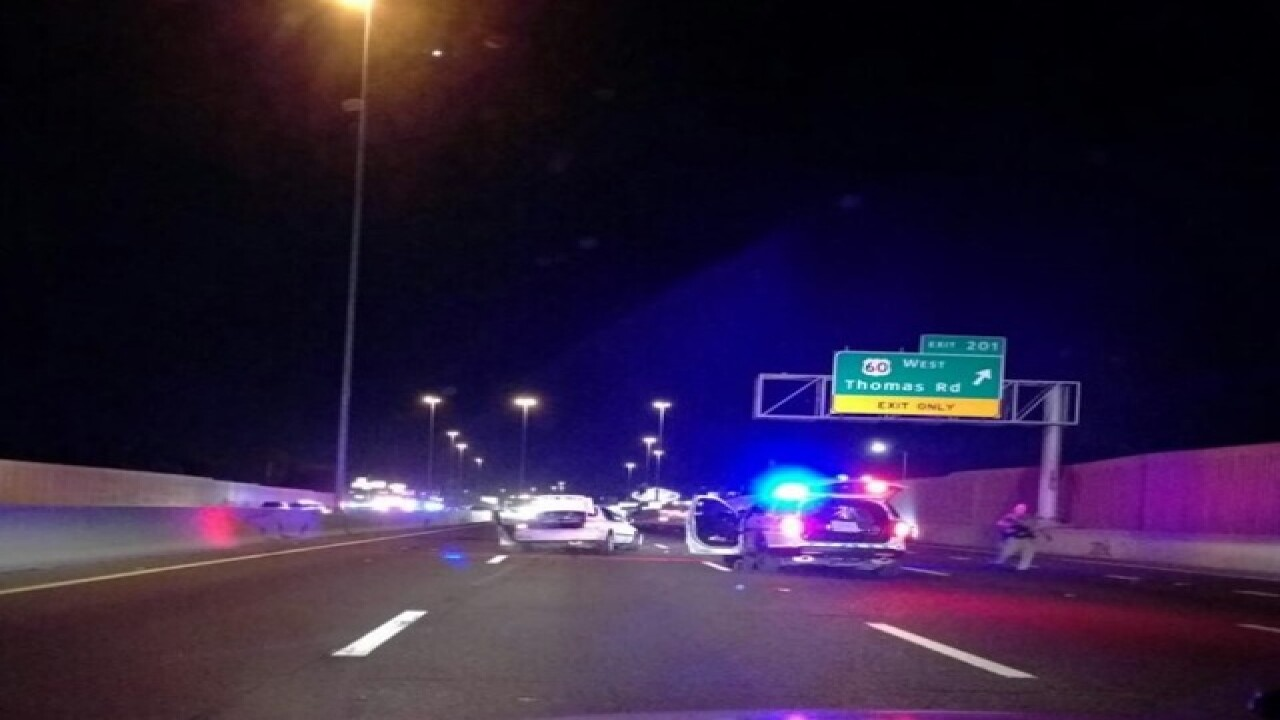 NOW: I-17 shut down for crash, police situation