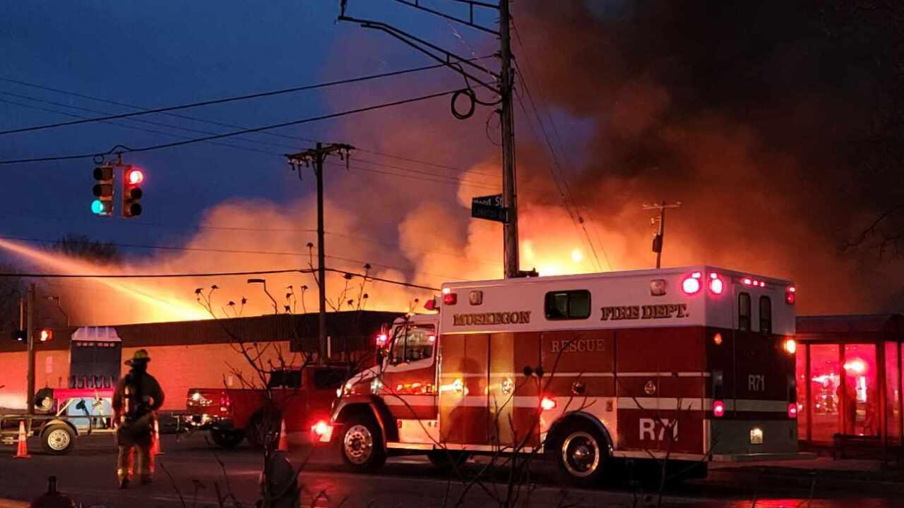 Dollar General fire in Muskegon