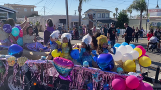 A parade along Price Street featured floats and dancers.