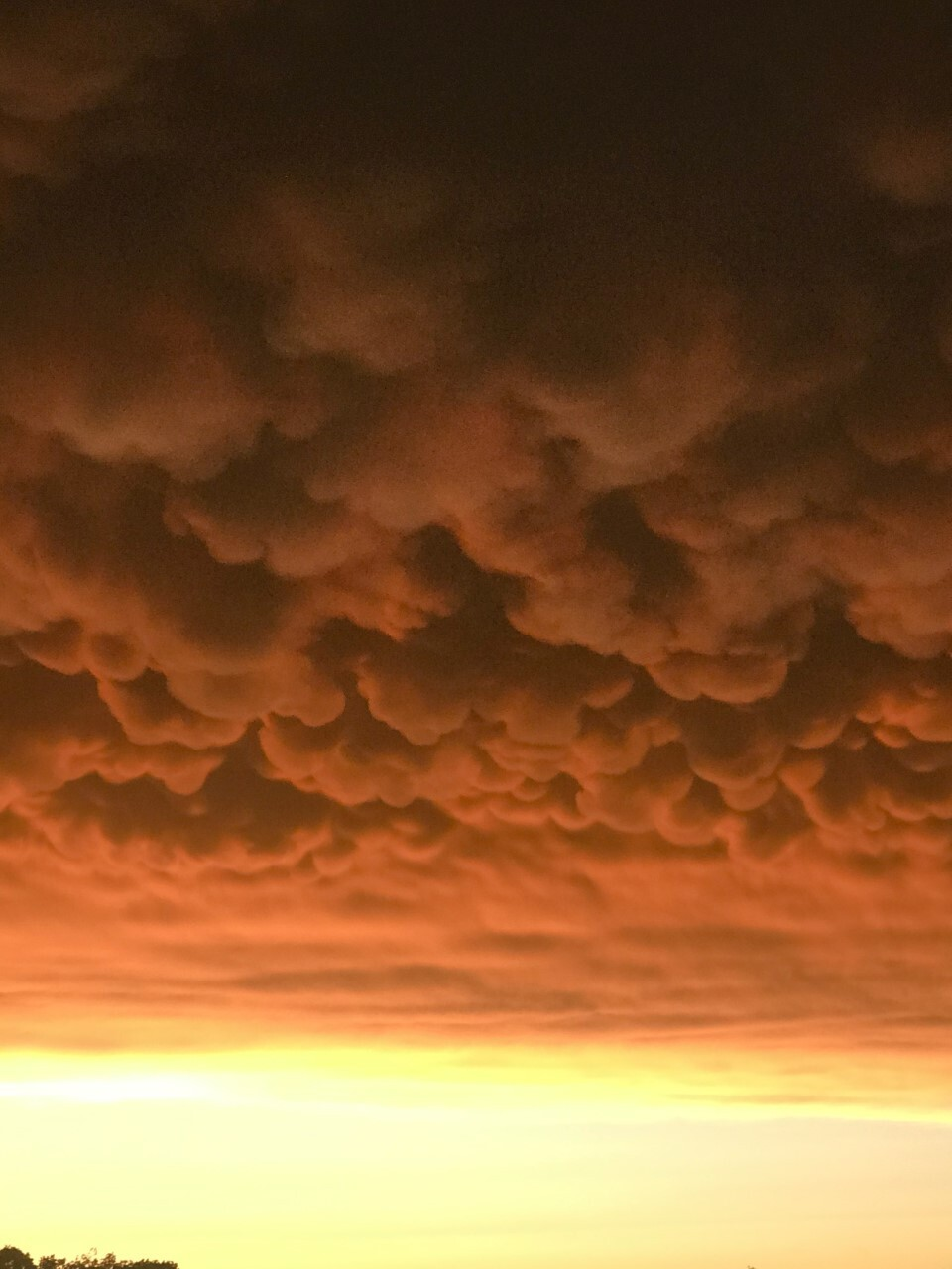Mammatus Clouds after Oklahoma Storms