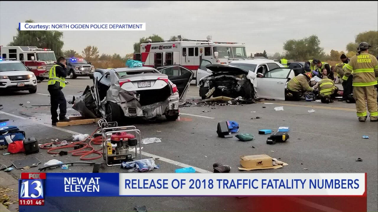 More than 260 people died on Utah roadways last year
