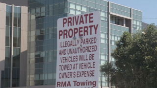 RMA Towing Sign