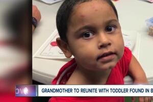 Grandmother to reunite with toddler found in box