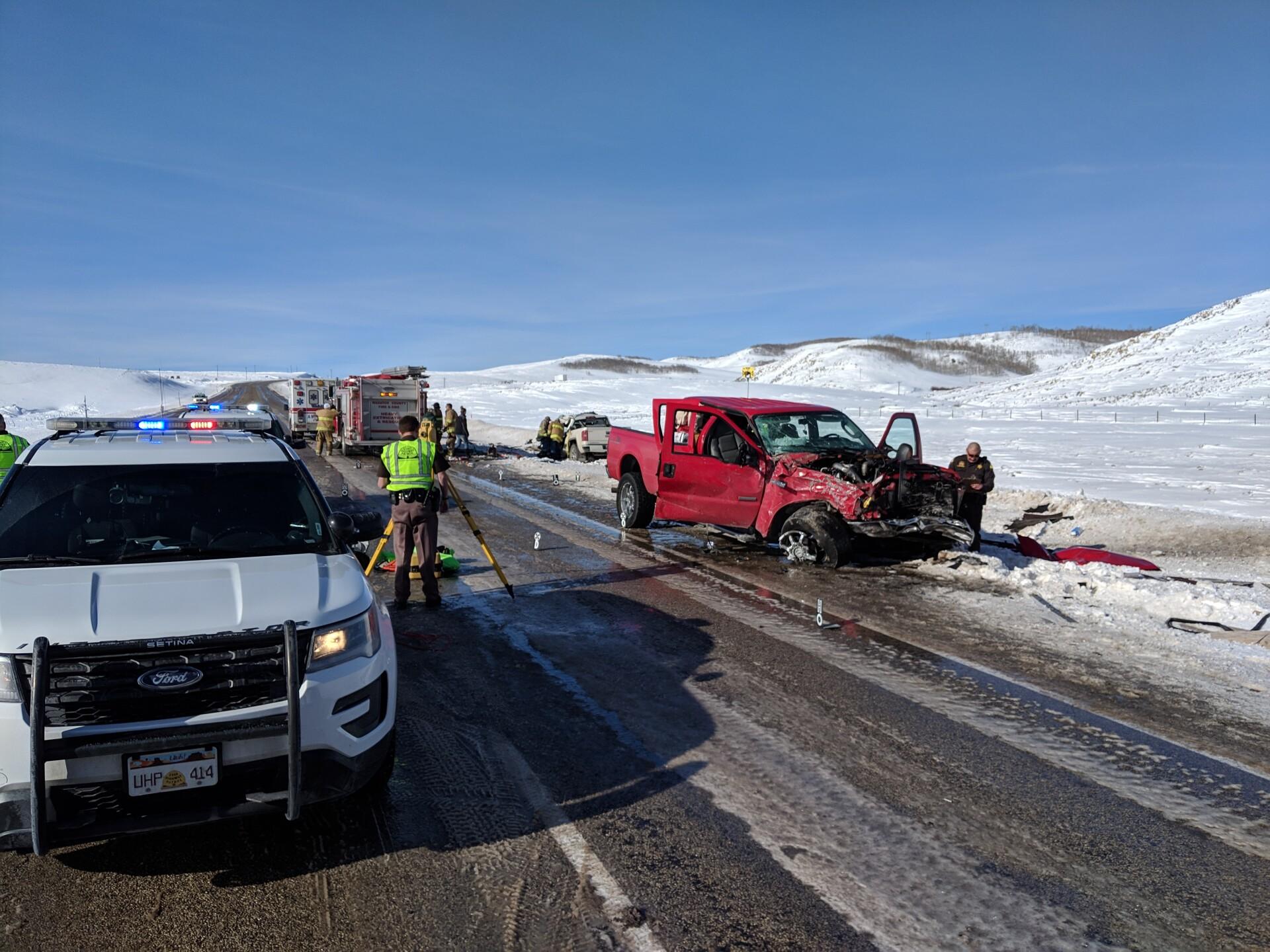 Photos: One dead, three injured in crash near StrawberryReservoir