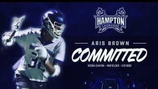 Aris Brown, Hampton lacrosse