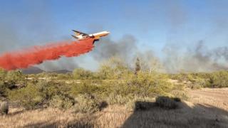 """""""Forest fire"""" burning near Wittmann"""