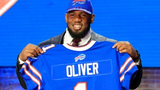 Ed Oliver Bills Draft Day