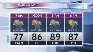 Scattered showers and storms for Wednesday and Thursday