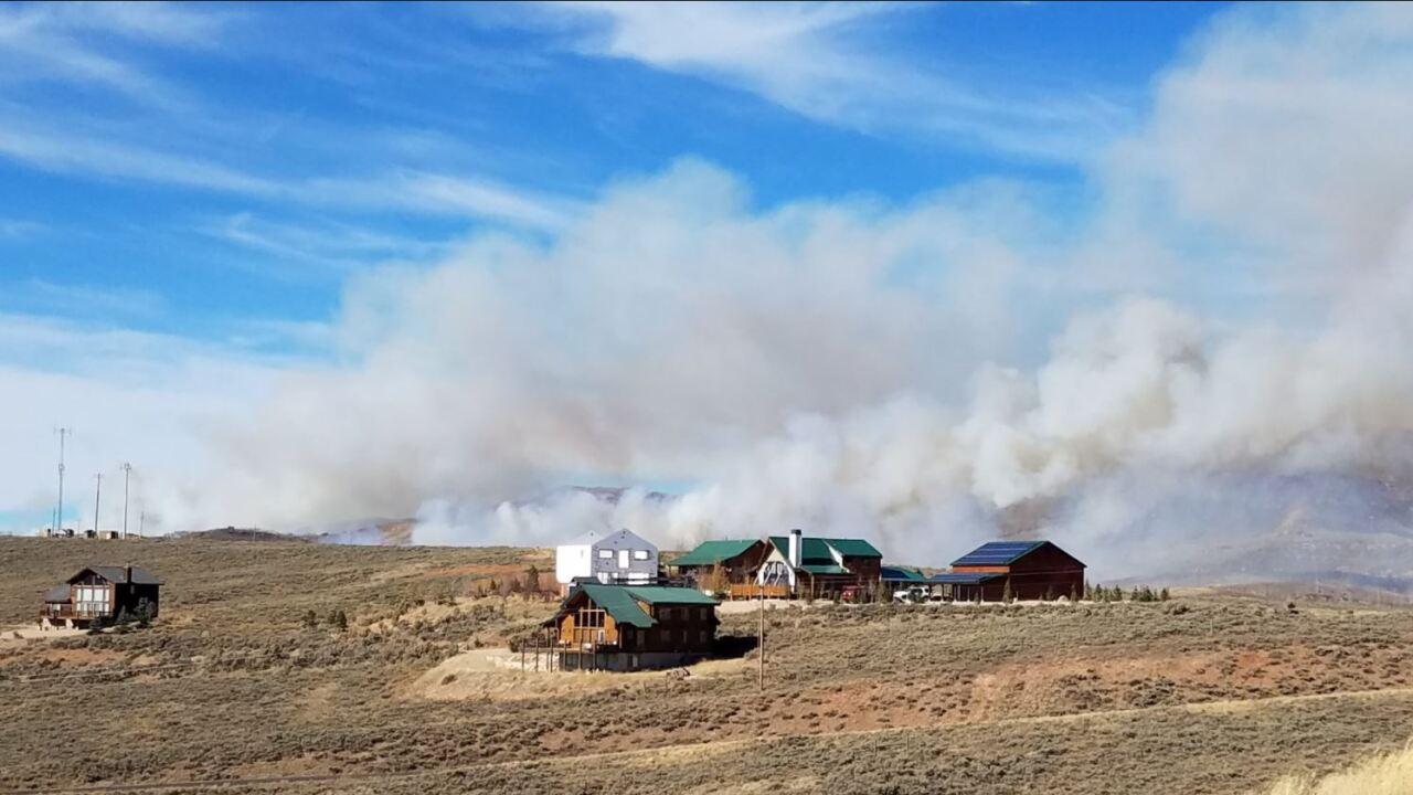 Two fires burning 1,200 acres near StrawberryReservoir