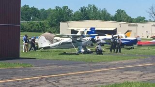SUV rams rogue airplane after pilot injured at Clermont County Airport