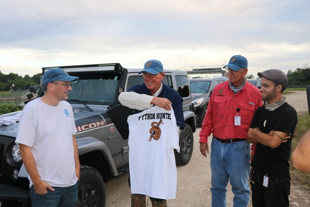 Congressman Rooney tackles pythons in the Everglades