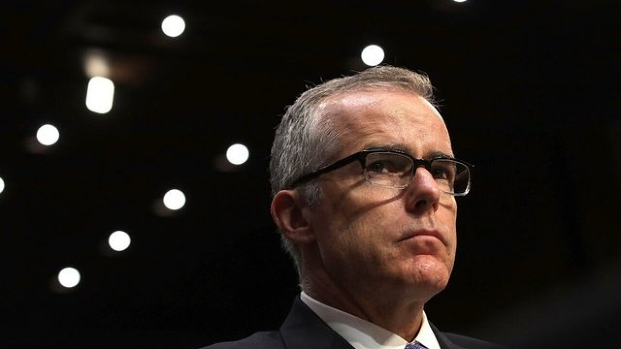 McCabe has been targeted by Trump and some Republicans who accuse the FBI official of exerting undue and partisan influence over the Clinton probe