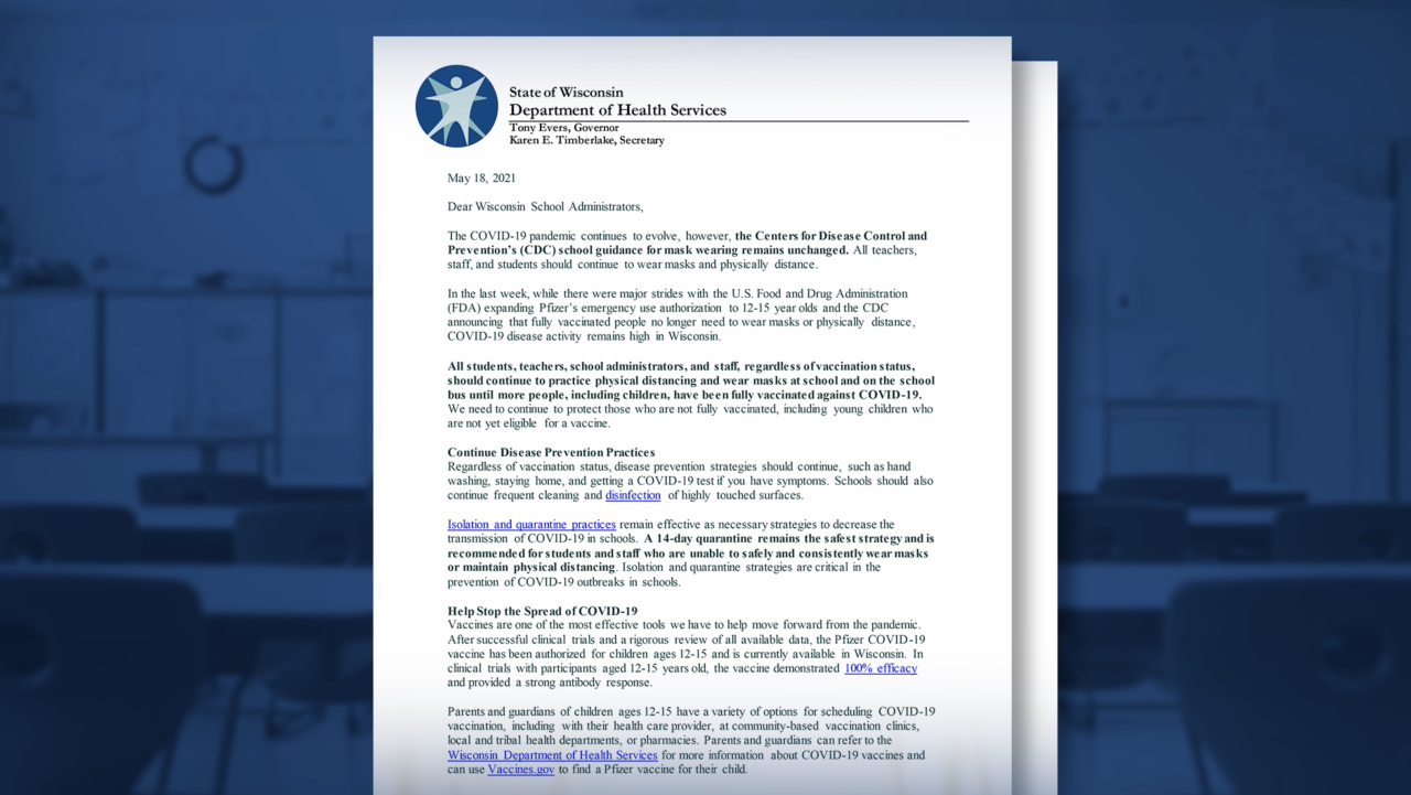 DHS letter to school administrators