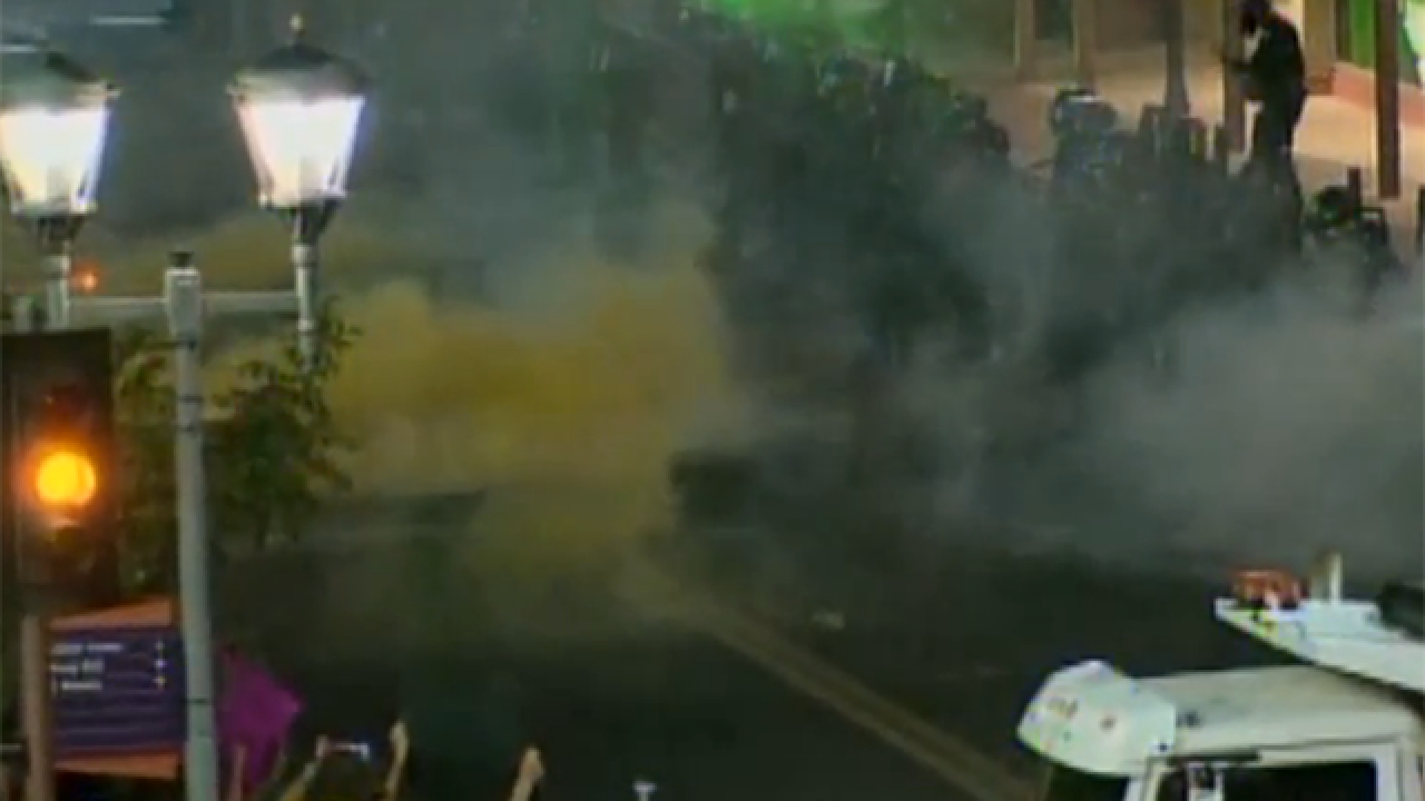 PD arrests man who kicked tear gas can at rally