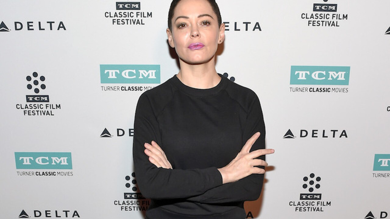 Rose McGowan responds to arrest warrant