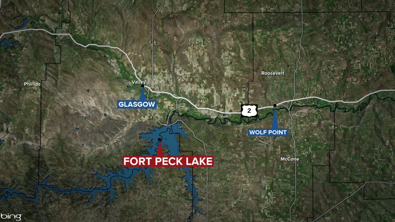 Fort Peck Lake Drowning Map