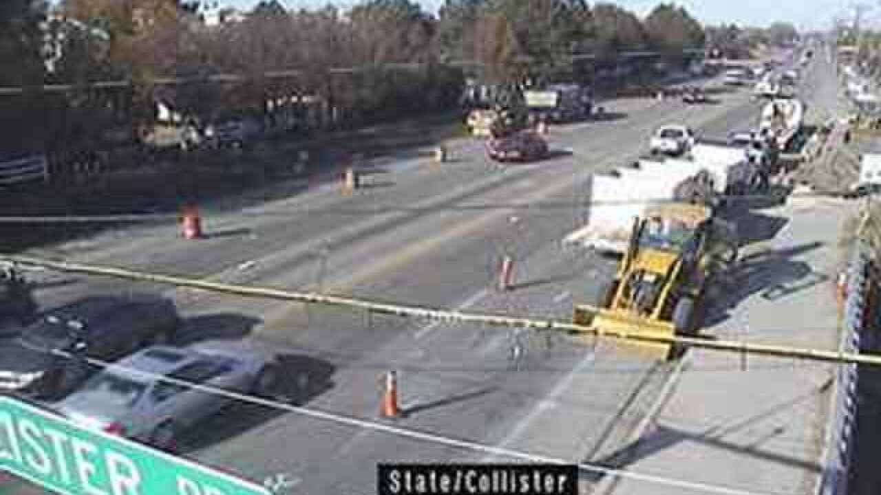 State and Collister construction project to impact traffic, restrict turns