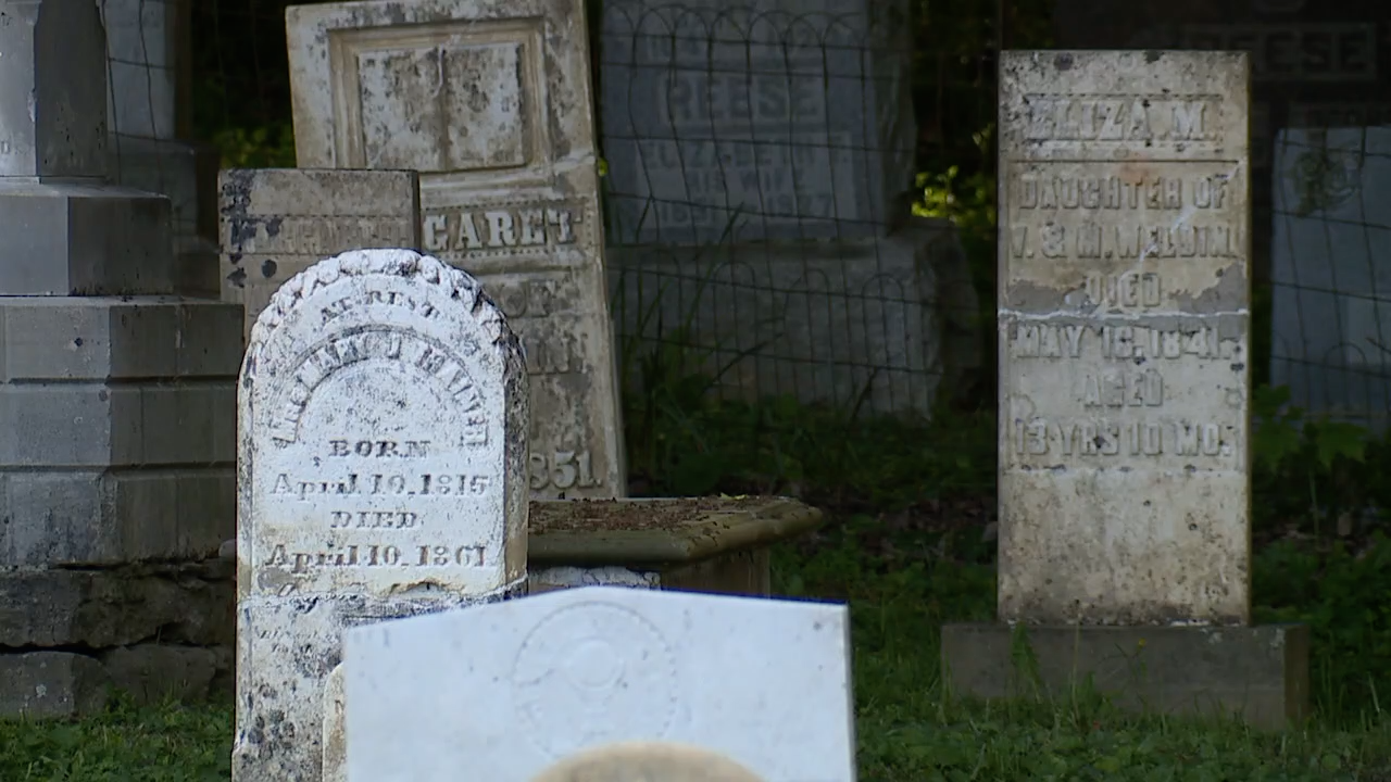 Old gravestones at Augusta Cemetery