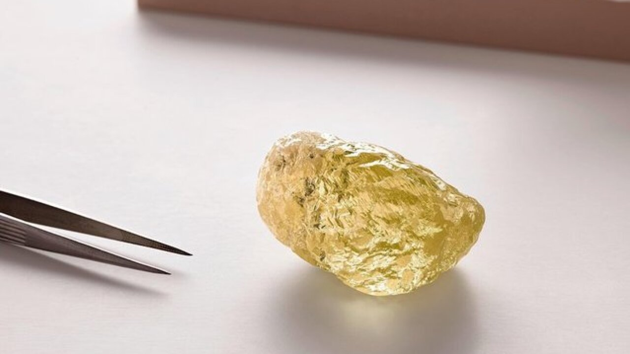 This is what a 552-carat yellow diamond looks like — the largest ever found in North America
