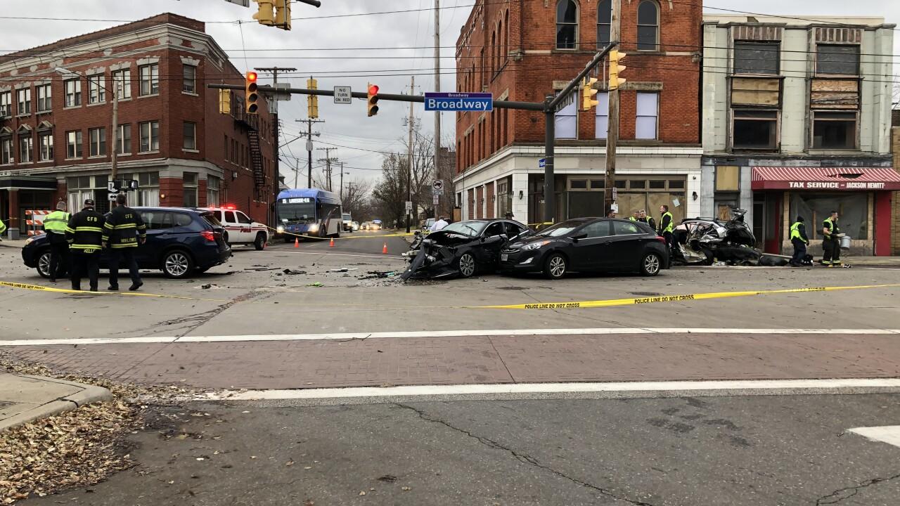 4-vehicle crash