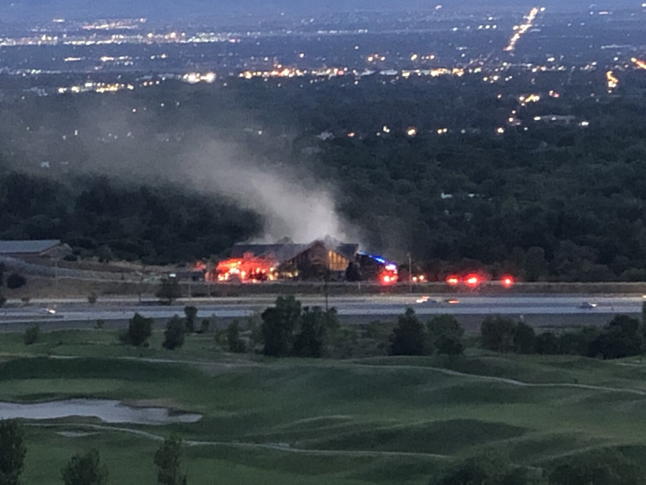 Photos: Fire destroys 25,000 square foot home in Holladay, burns for over 24hours