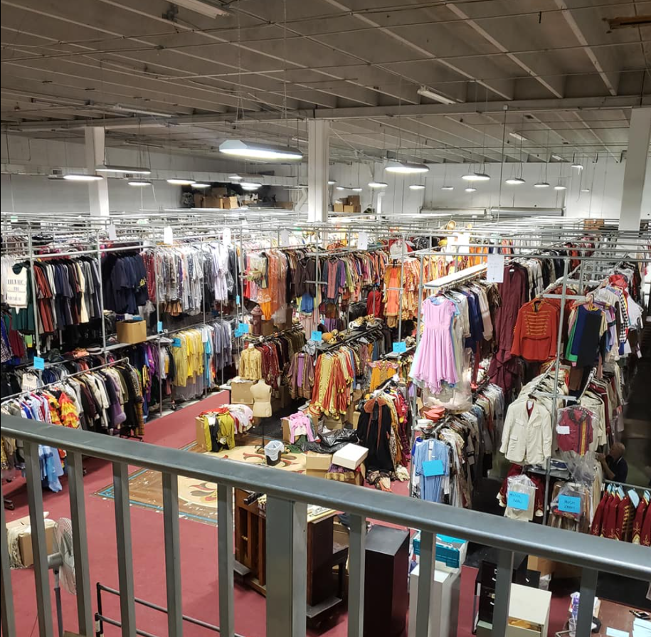 Costume World in Pompano Beach is home to over 1.2 million costumes.