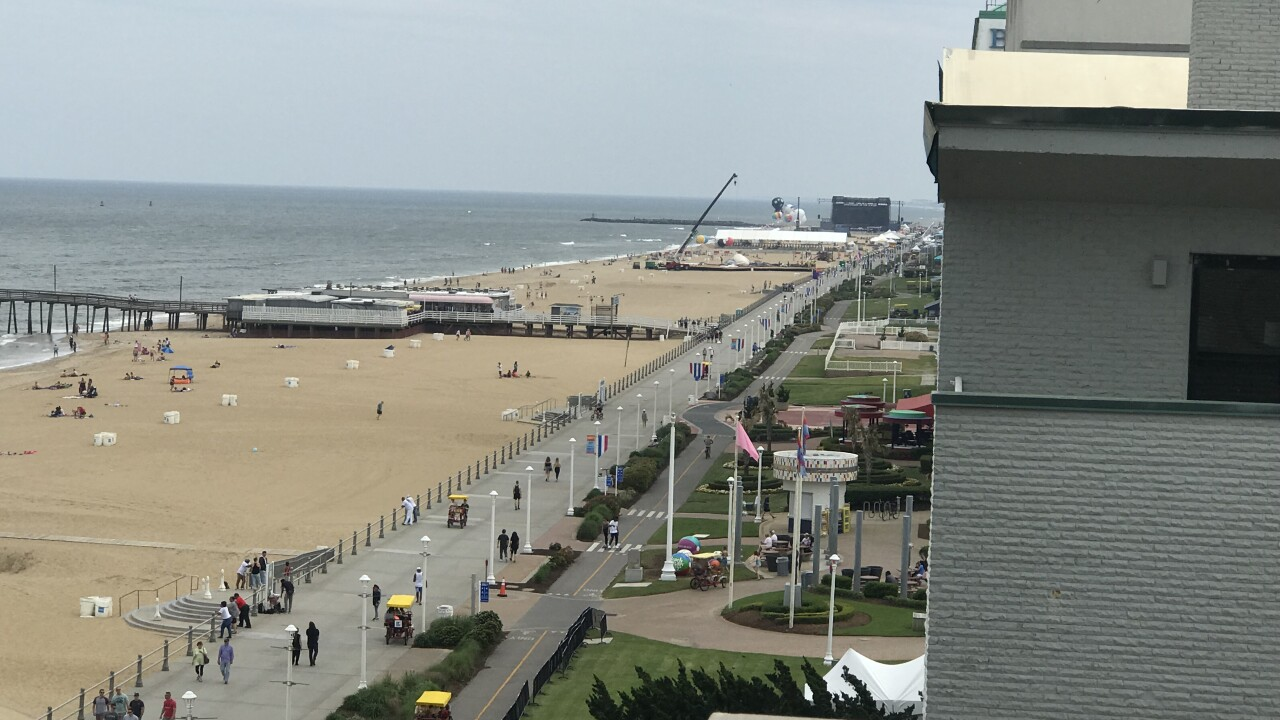 A look at the Oceanfront boardwalk Saturday