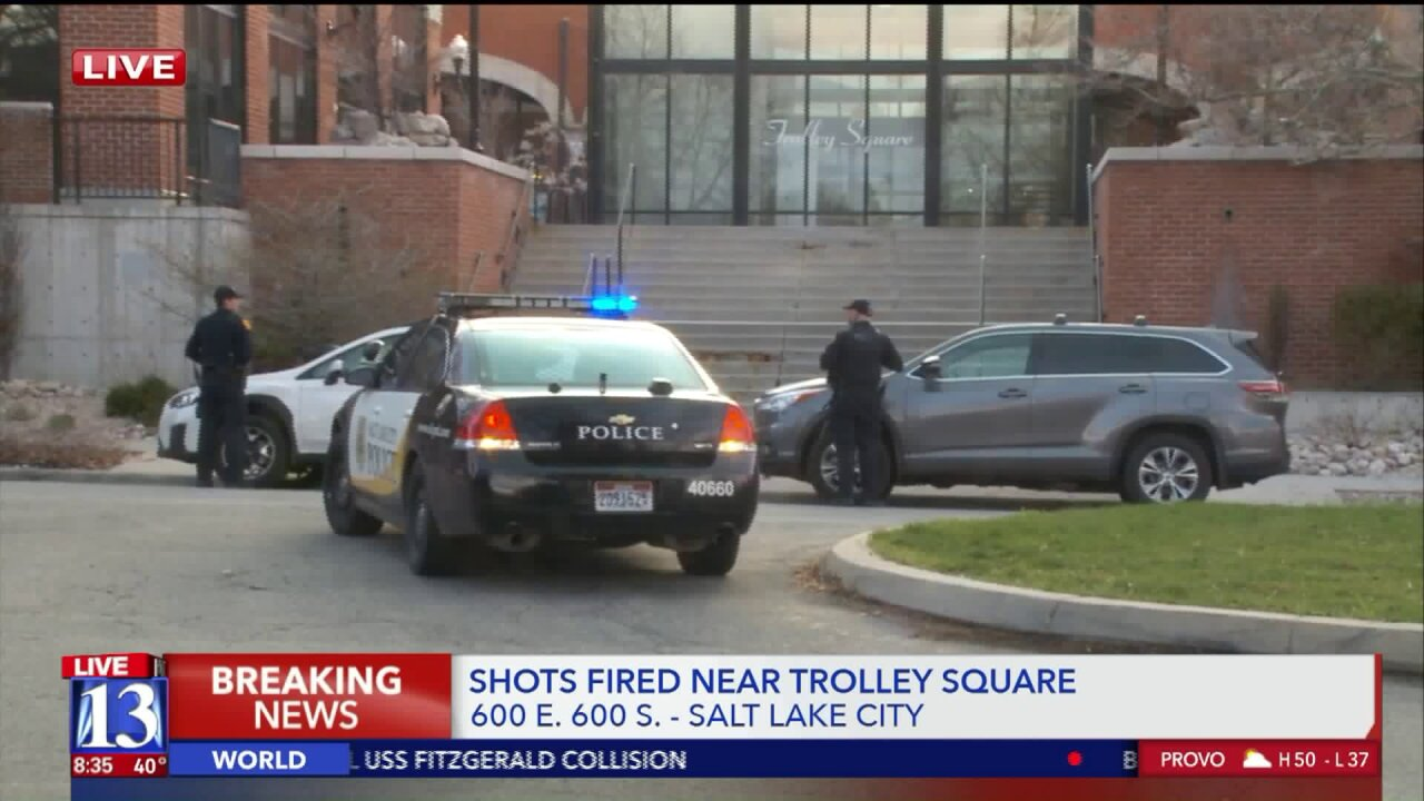 Lock downs lifted after shots fired near Trolley Square; shooter on therun