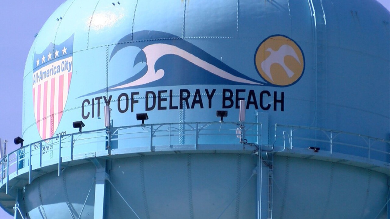 City of Delray Beach water tower closeup
