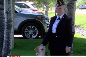 Bozeman U.S. Marine Corp veteran surprised with service dog