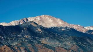 Dusting of snow on Pikes Peak