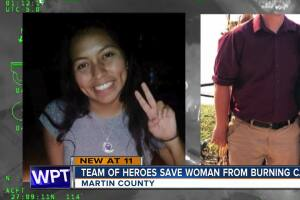 Martin County sergeant, bystander save woman