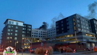 Structure fire in downtown Boise closes several roads
