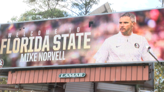 Billboard on West Tennessee Street welcomes Mike Norvell to FSU.png