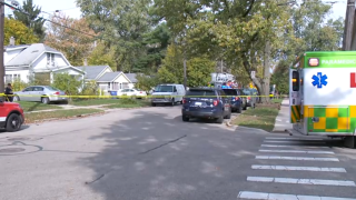 Scene of deadly fire Sunday 10/25/2020 on Grand Rapids' Northeast Side