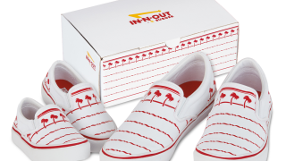 In-N-Out releases 'drink cup' shoes designed with iconic logo