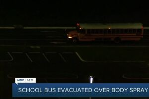 Students evacuated from Manatee County school bus after someone sprayed too much Axe body spray