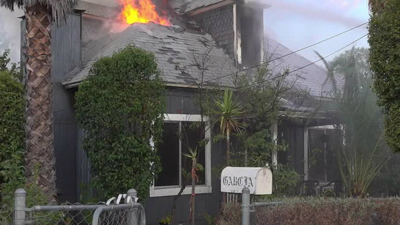 Fire destroys Ramona home, displaces 8 people