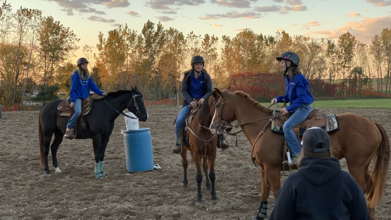 The Hopkins equestrian team prepares for state meet