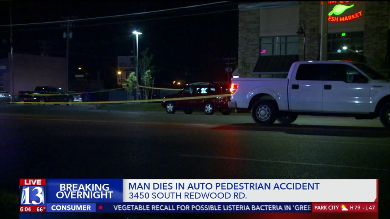 Man hit, killed while crossing Redwood Road in West ValleyCity